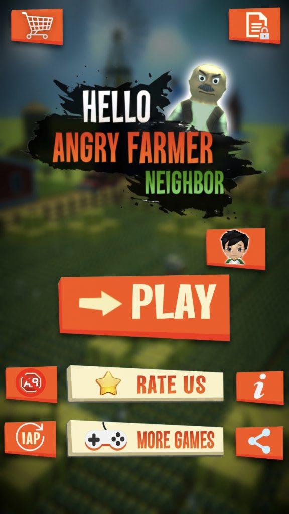 Hello Angry Farmer Neighbor - Rat a Tat Game